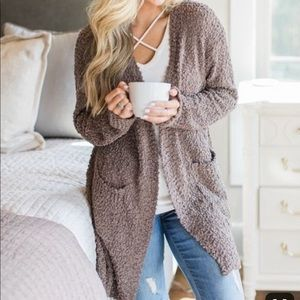 Pink Lily Sweaters - Pink Lily - Only In Dreams Cardigan in Mocha